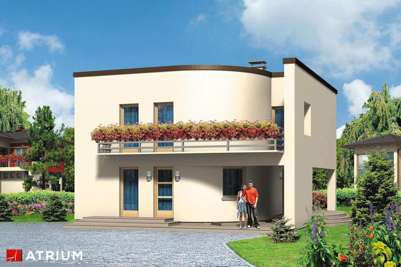 Projekty domów - Projekt domu piętrowego WILLA MARION - wizualizacja 1