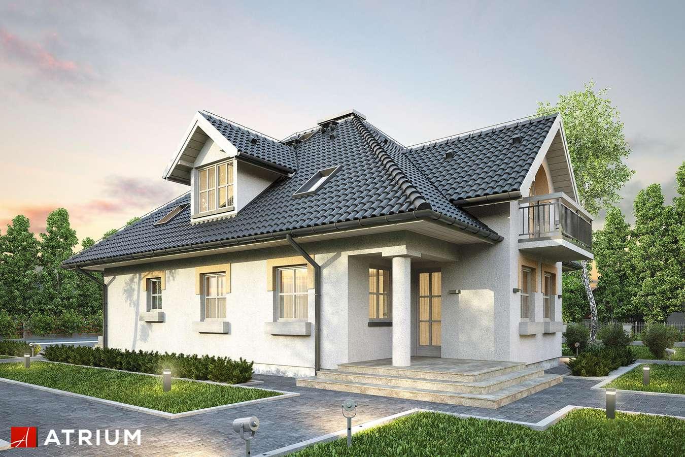 Projekty domów - Projekt domu z poddaszem ŻURAW - wizualizacja 2