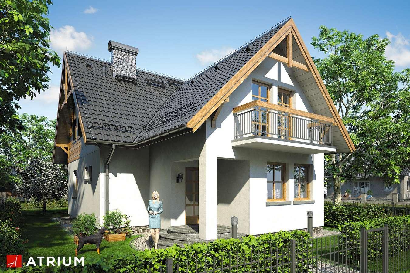 Projekty domów - Projekt domu z poddaszem BARTłOMIEJ - wizualizacja 1