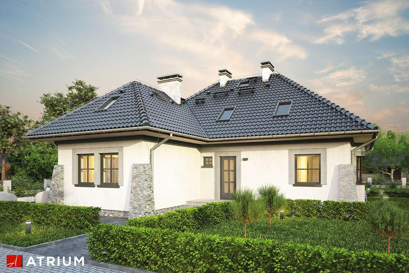 Projekty domów - Projekt domu z poddaszem KONICZYNKA - wizualizacja 1