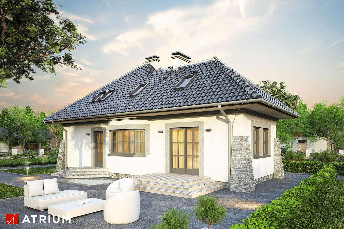 Projekty domów - Projekt domu z poddaszem KONICZYNKA - wizualizacja 2