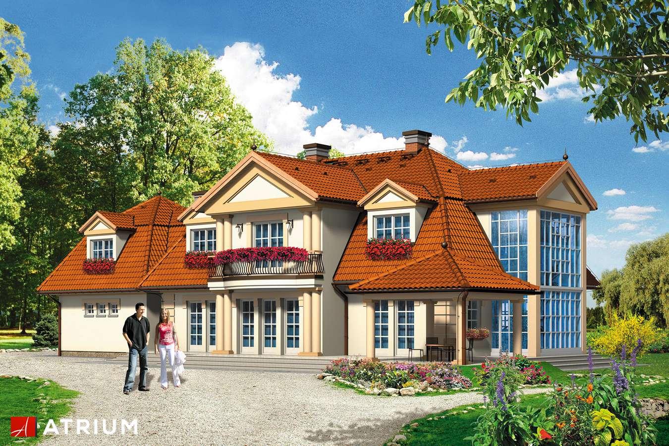 Projekty domów - Projekt domu z poddaszem WILLA USTRONIE - wizualizacja 1