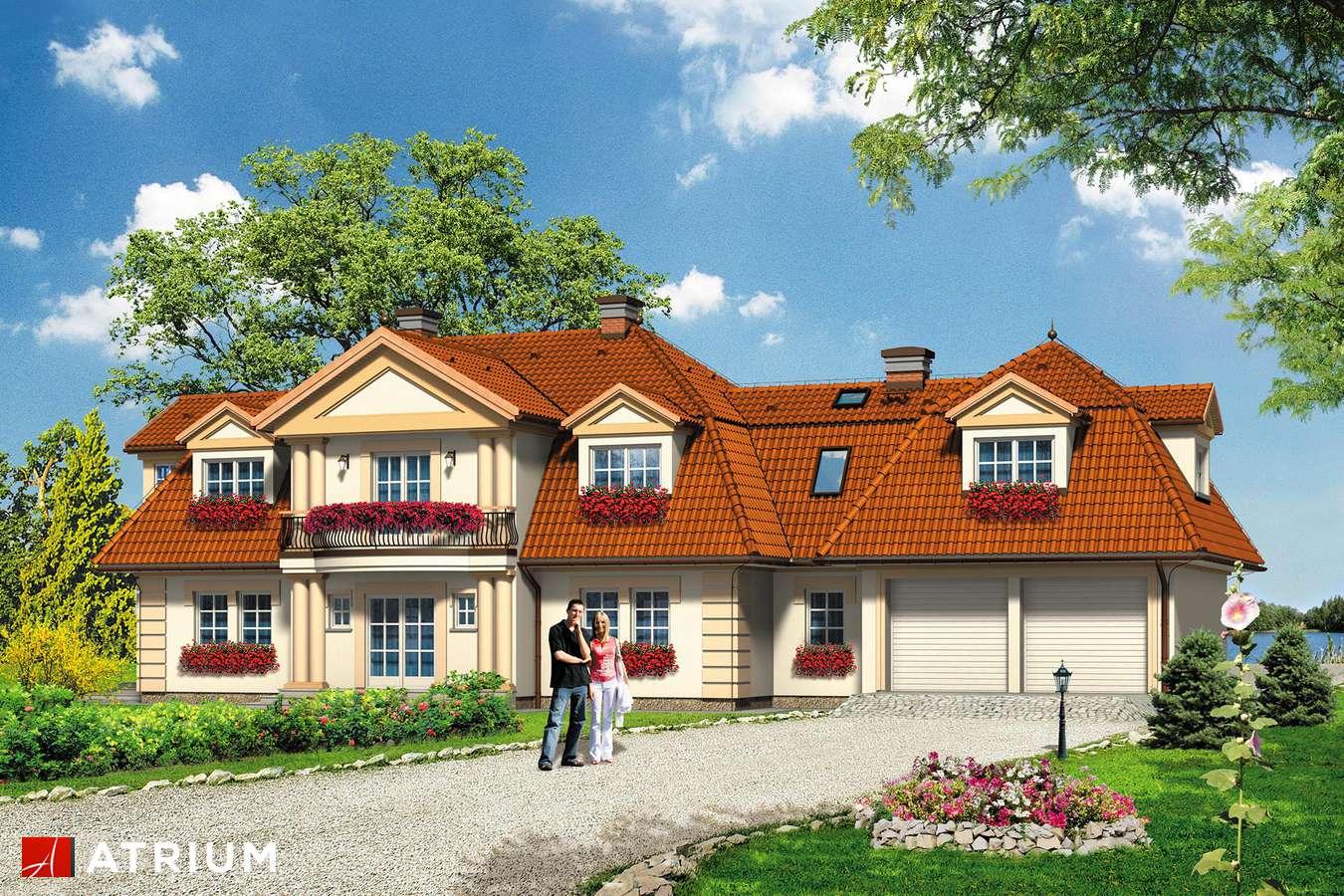 Projekty domów - Projekt domu z poddaszem WILLA USTRONIE - wizualizacja 2