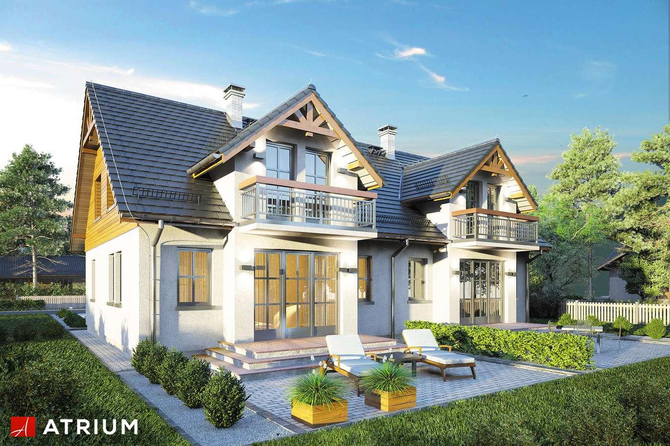 Projekty domów - Projekt domu z poddaszem DOBOROWY DUET - wizualizacja 1