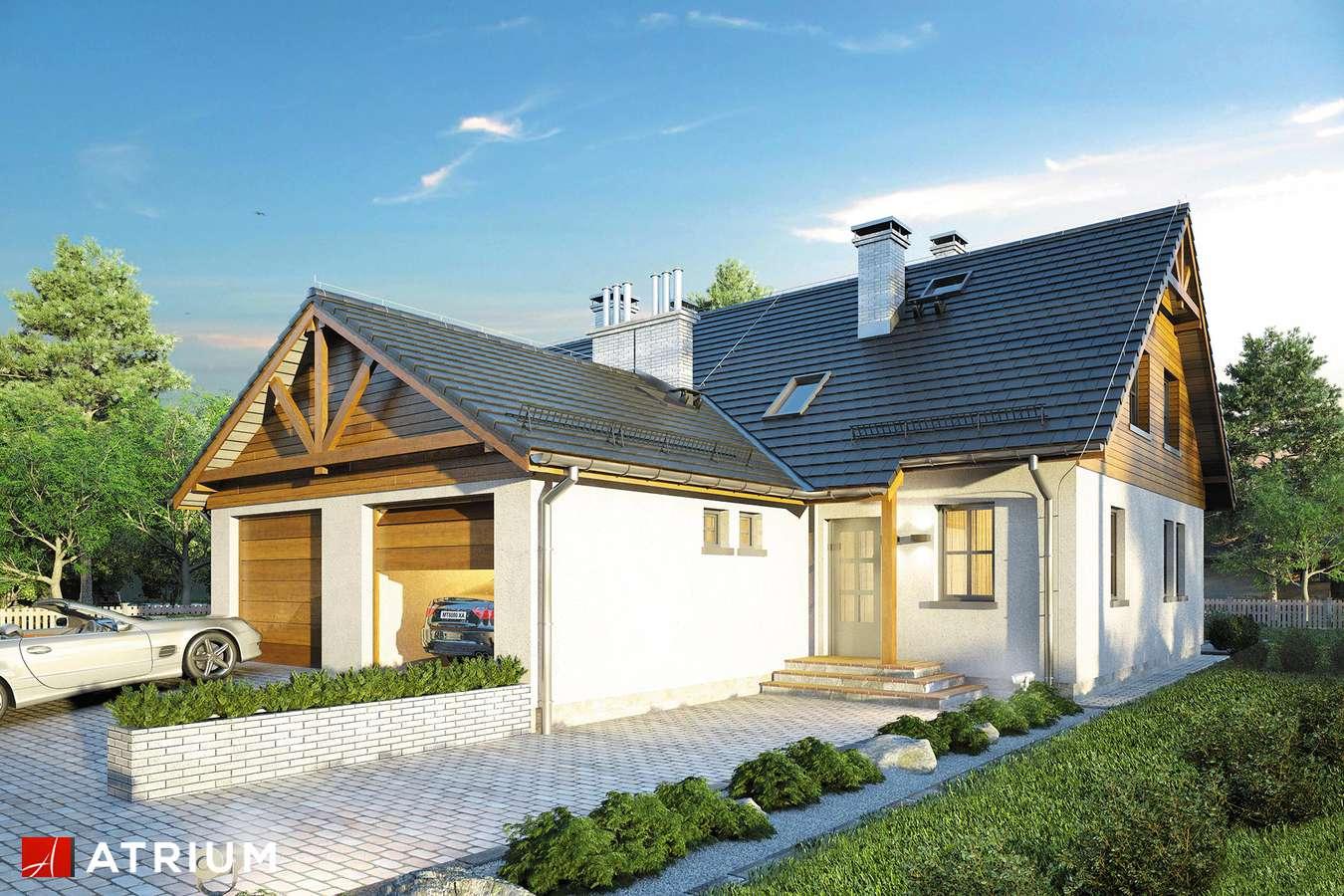 Projekty domów - Projekt domu z poddaszem DOBOROWY DUET - wizualizacja 2