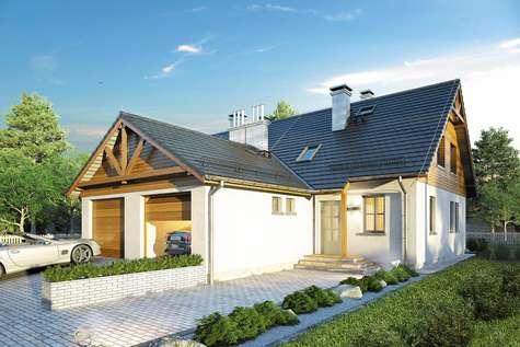 Projekt domu z poddaszem DOBOROWY DUET - wizualizacja 2
