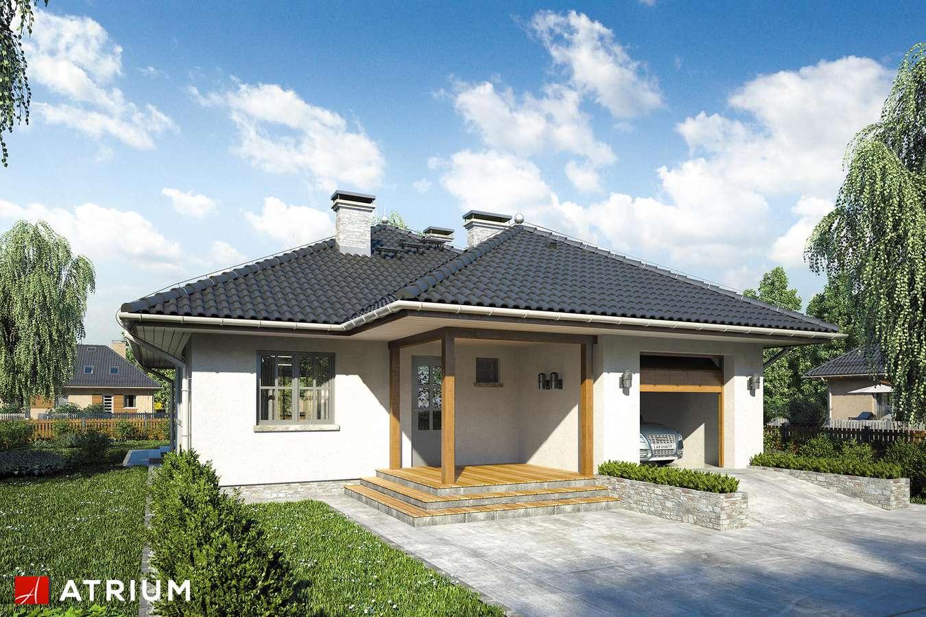 Projekty domów - Projekt domu z poddaszem PERKOZ - wizualizacja 1