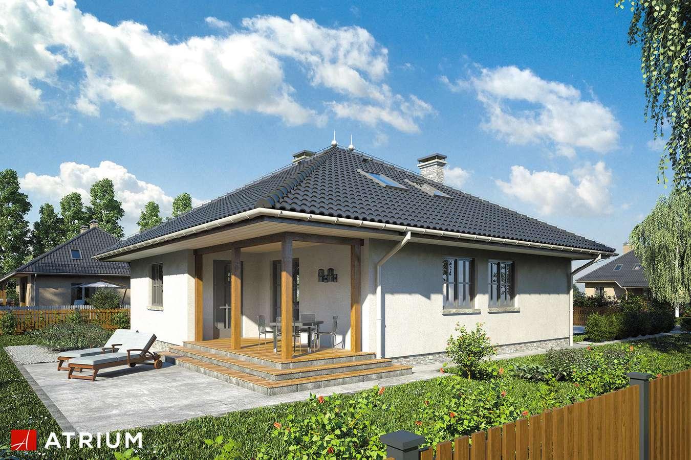 Projekty domów - Projekt domu z poddaszem PERKOZ - wizualizacja 2