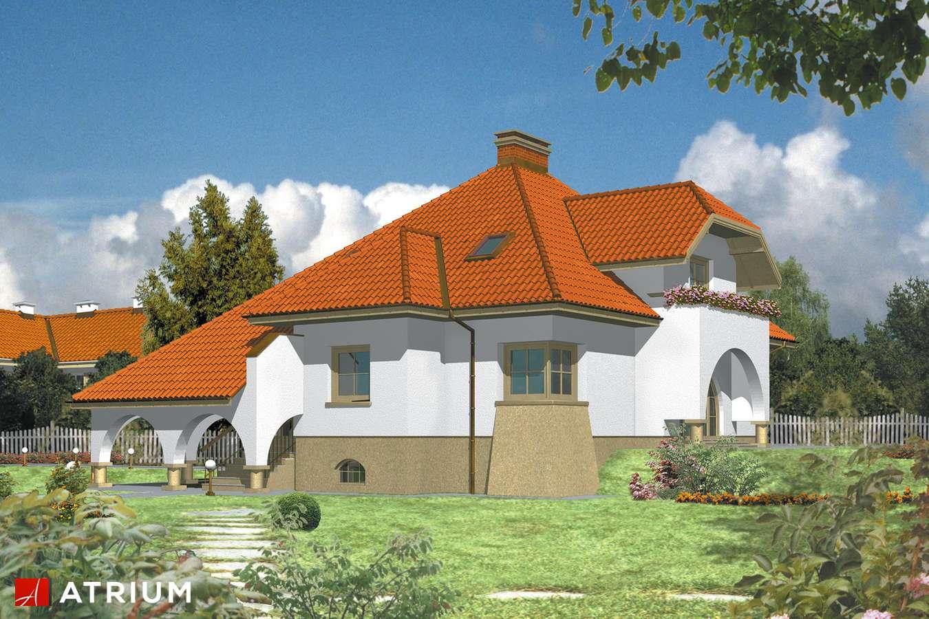 Projekty domów - Projekt domu z poddaszem RUBIN - wizualizacja 1