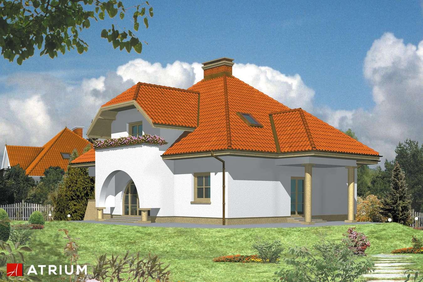 Projekty domów - Projekt domu z poddaszem RUBIN - wizualizacja 2