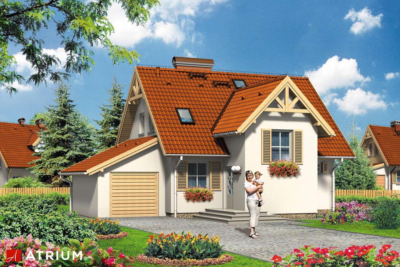Projekt domu z poddaszem VELLA - wizualizacja 1