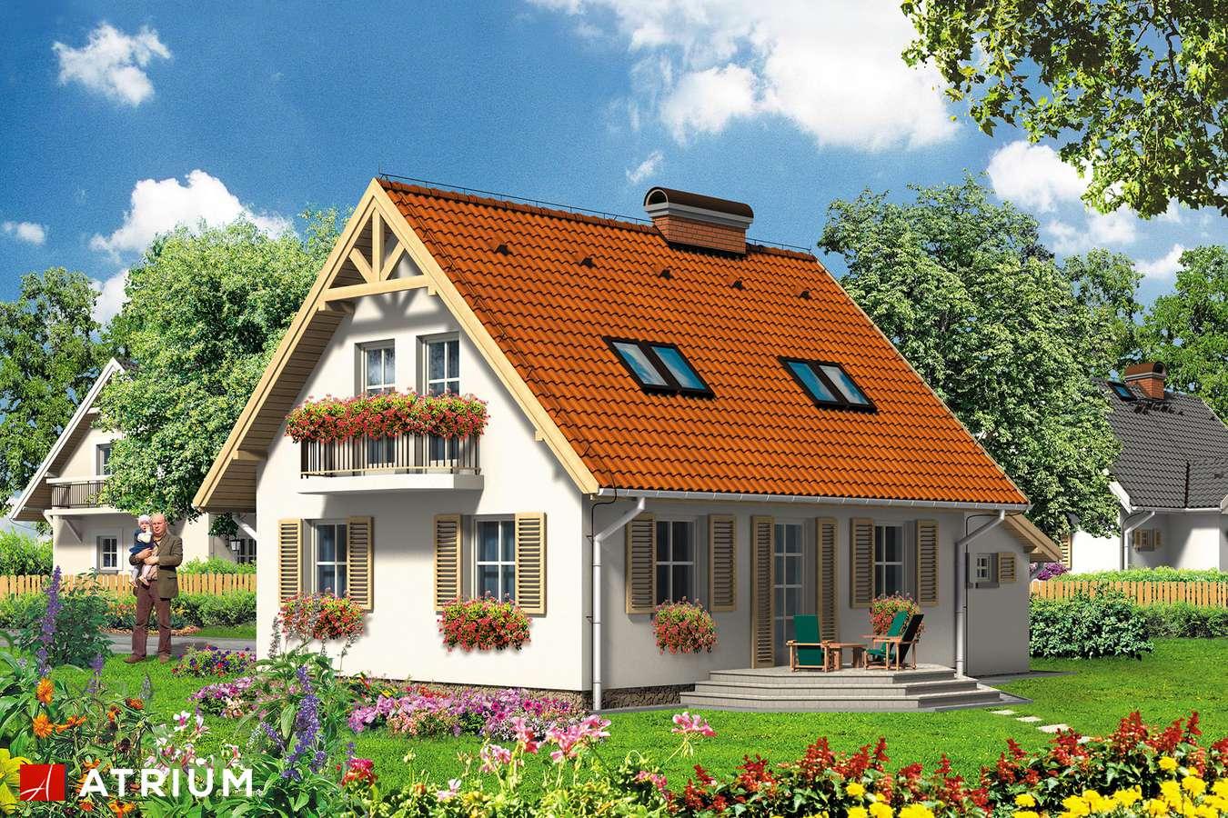 Projekt domu z poddaszem VELLA - wizualizacja 2
