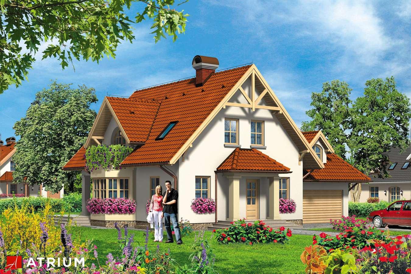 Projekt domu z poddaszem FENIKS - wizualizacja 1