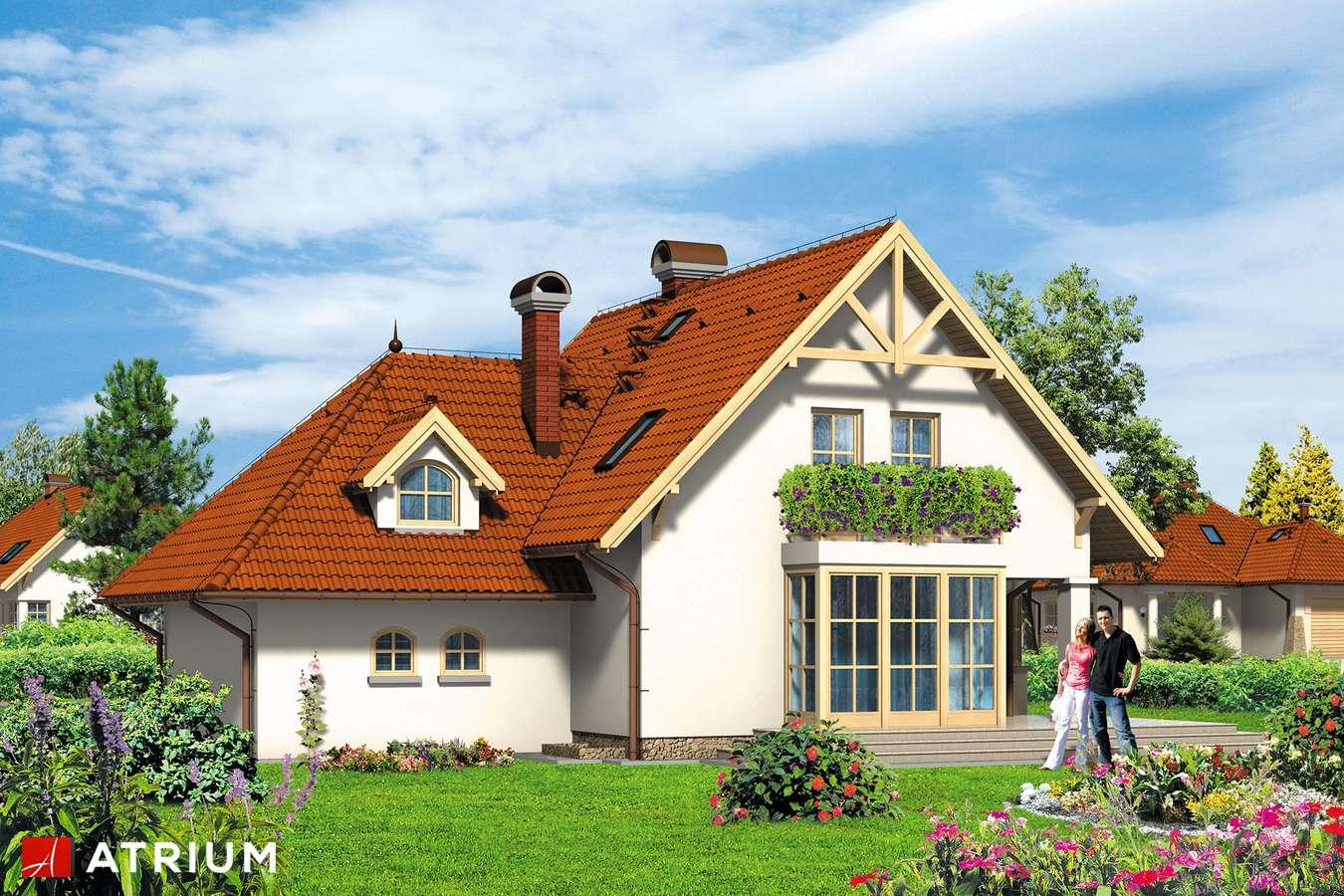 Projekt domu z poddaszem FENIKS - wizualizacja 2