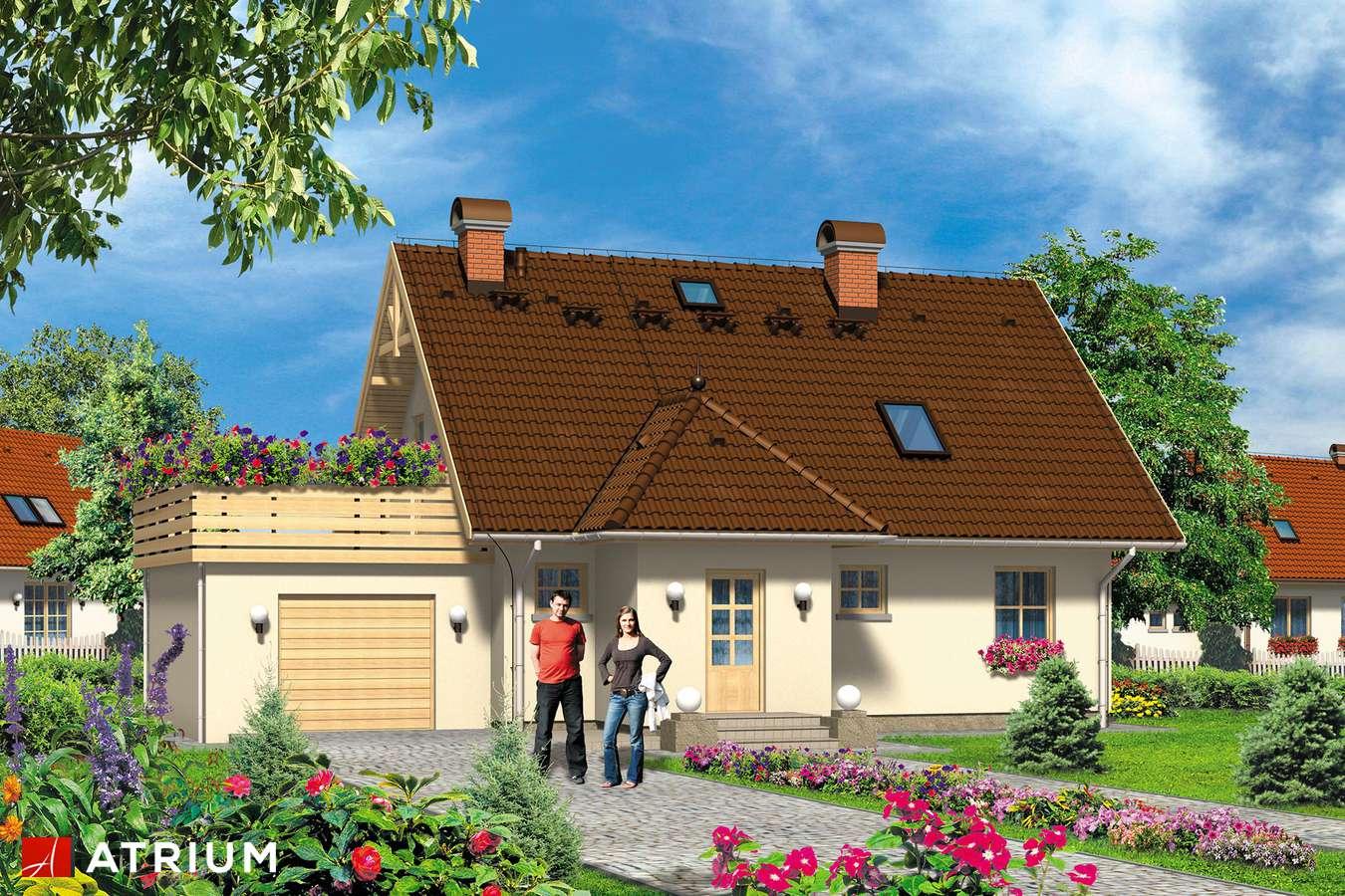 Projekt domu z poddaszem LIBRETTO - wizualizacja 1