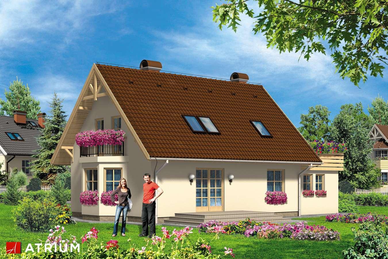 Projekt domu z poddaszem LIBRETTO - wizualizacja 2