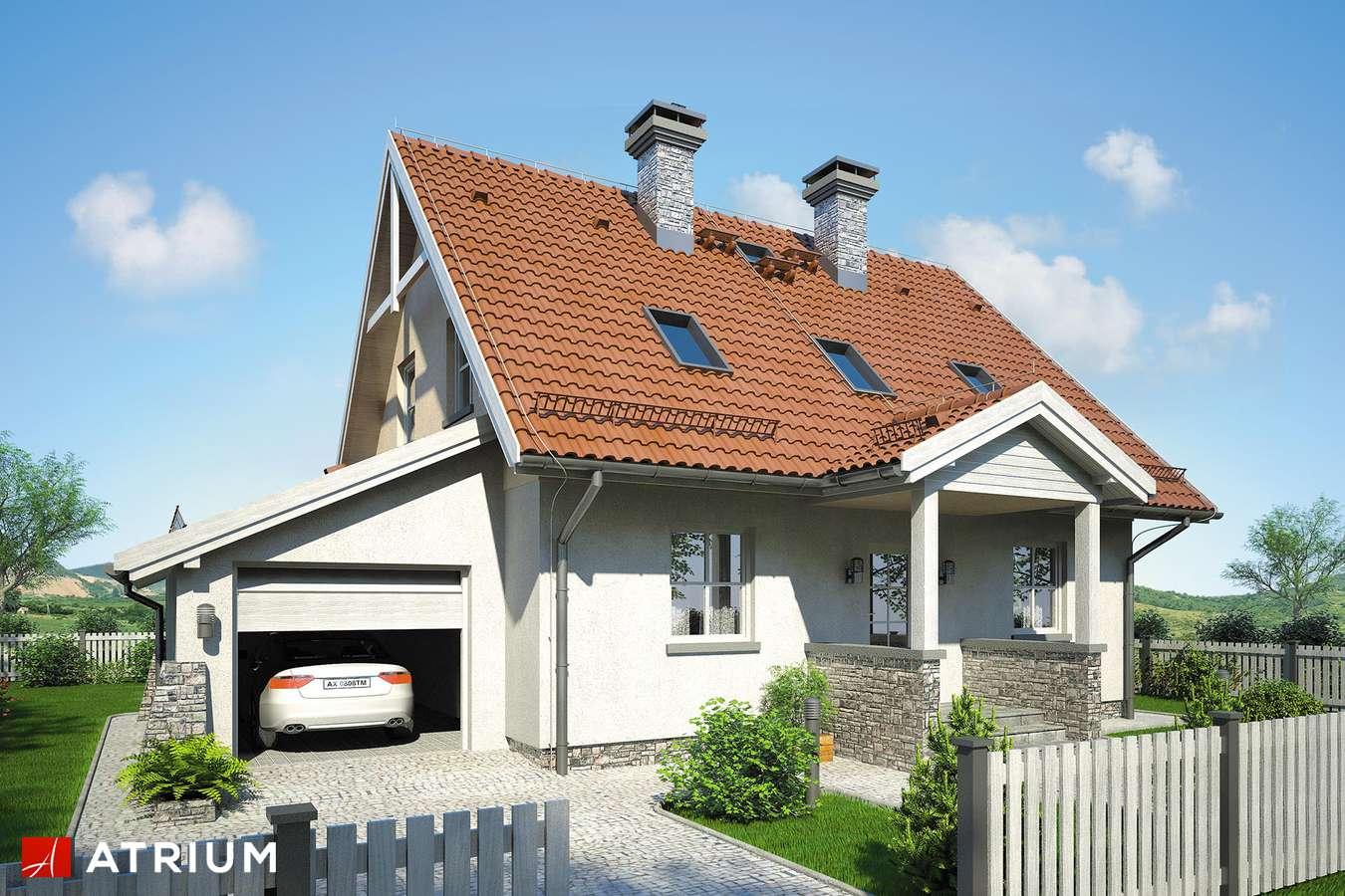 Projekty domów - Projekt domu z poddaszem ZACHWYTEK - wizualizacja 1