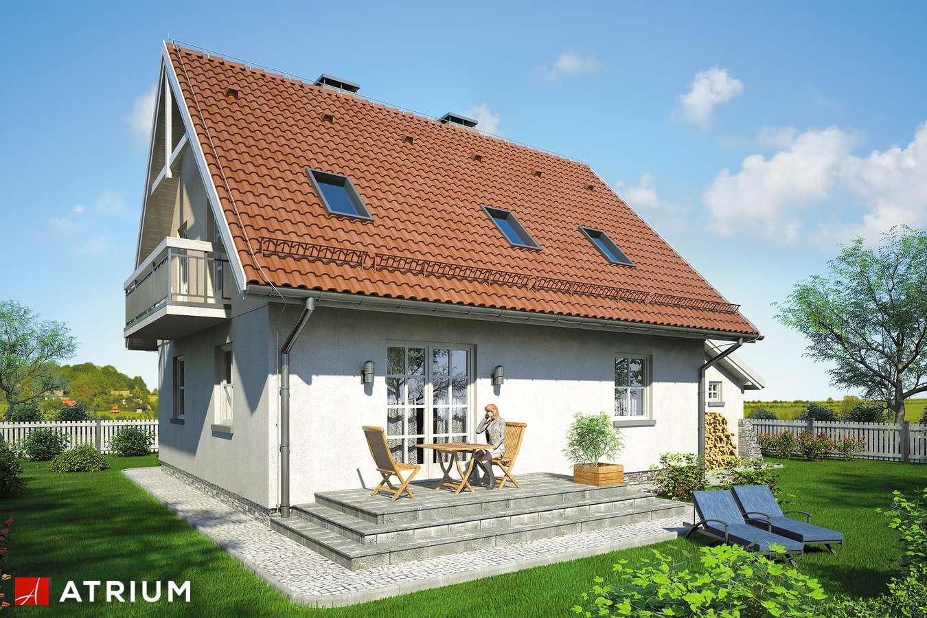 Projekty domów - Projekt domu z poddaszem ZACHWYTEK - wizualizacja 2