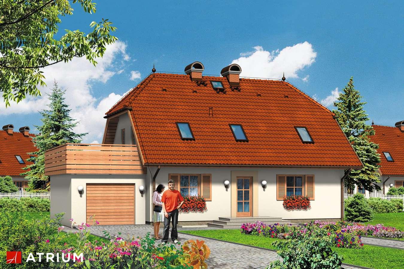 Projekty domów - Projekt domu z poddaszem ŁAKOTEK - wizualizacja 1