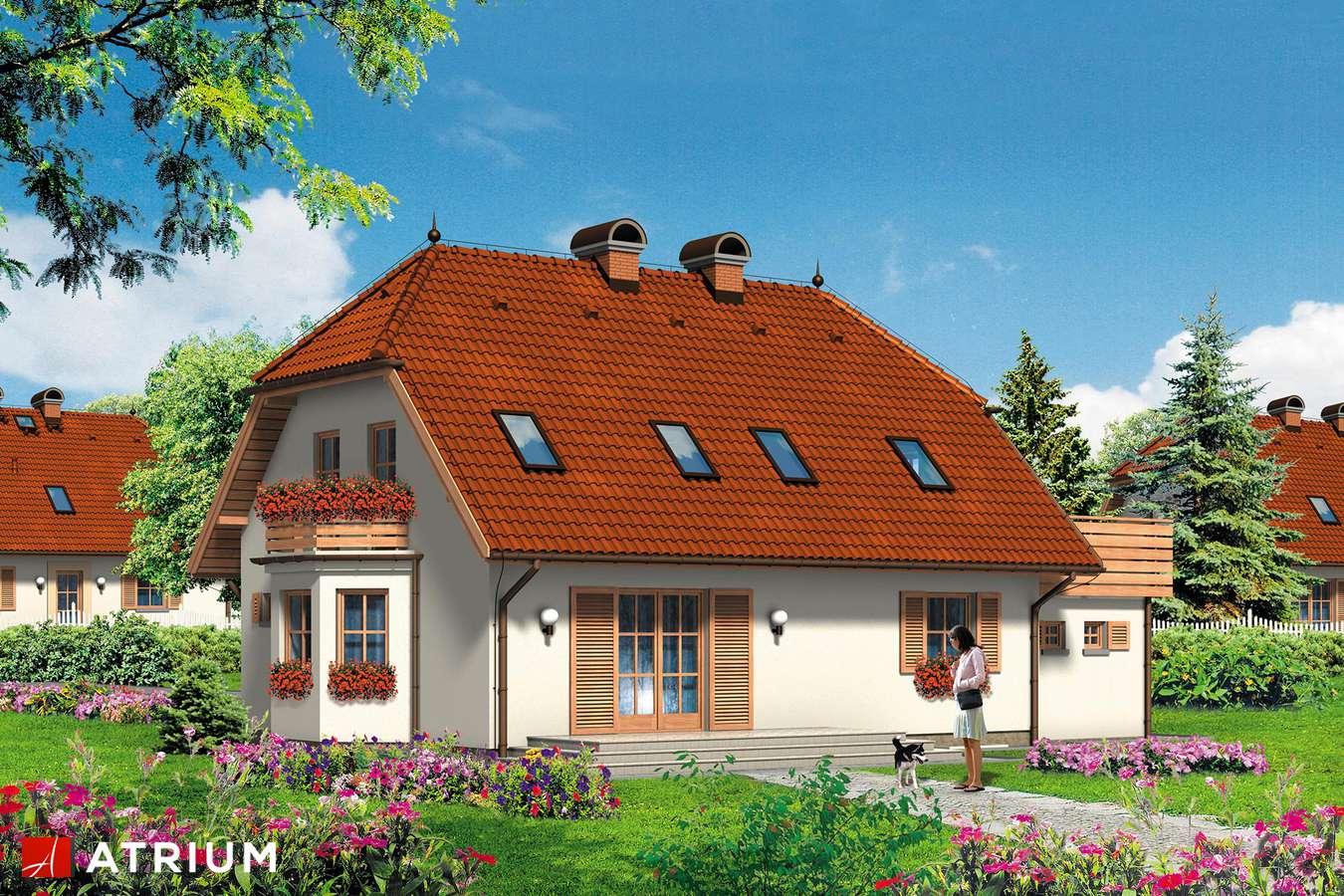 Projekty domów - Projekt domu z poddaszem ŁAKOTEK - wizualizacja 2