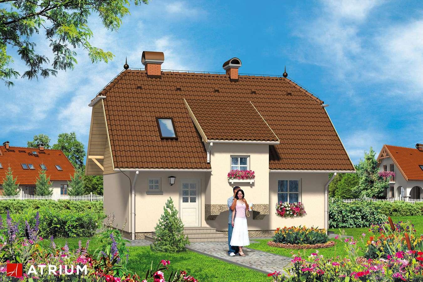Projekty domów - Projekt domu z poddaszem PUCHATEK - wizualizacja 1