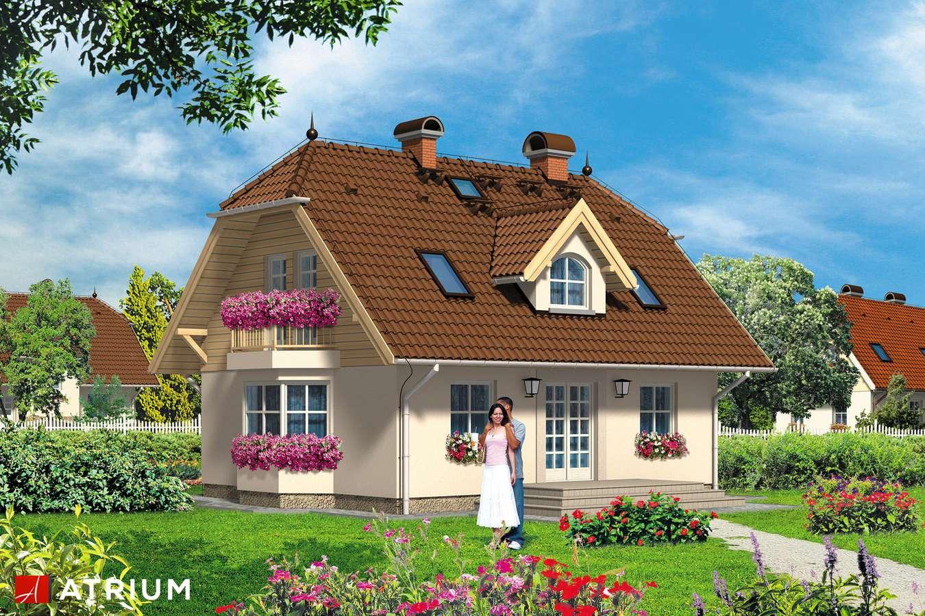Projekty domów - Projekt domu z poddaszem PUCHATEK - wizualizacja 2
