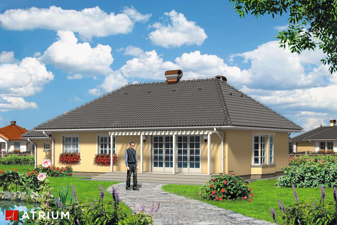 Projekty domów - Projekt domu parterowego ARKA PLUS - wizualizacja 2
