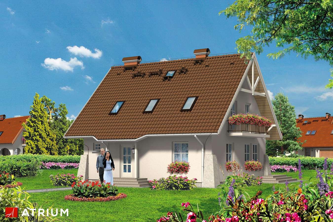 Projekty domów - Projekt domu z poddaszem UROCZY - wizualizacja 1