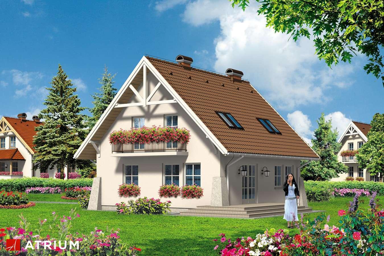Projekty domów - Projekt domu z poddaszem UROCZY - wizualizacja 2