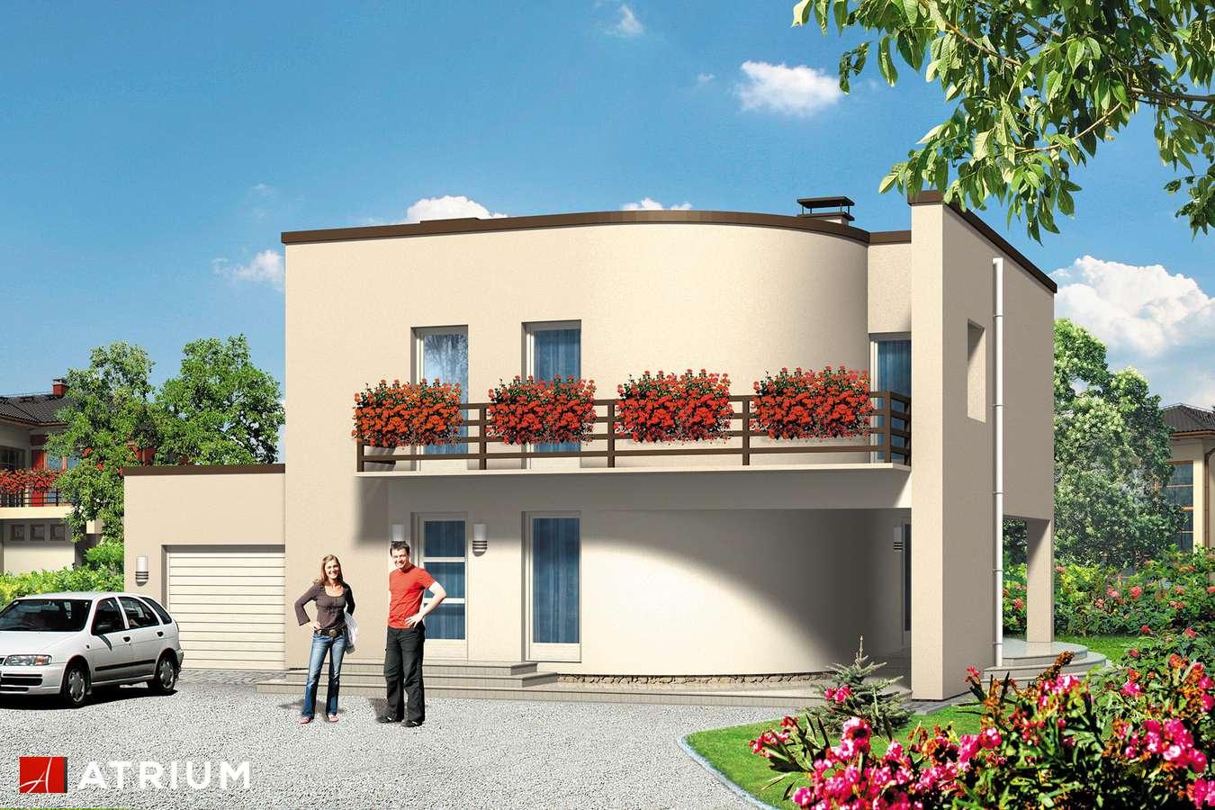 Projekty domów - Projekt domu piętrowego WILLA MODERNA - wizualizacja 1