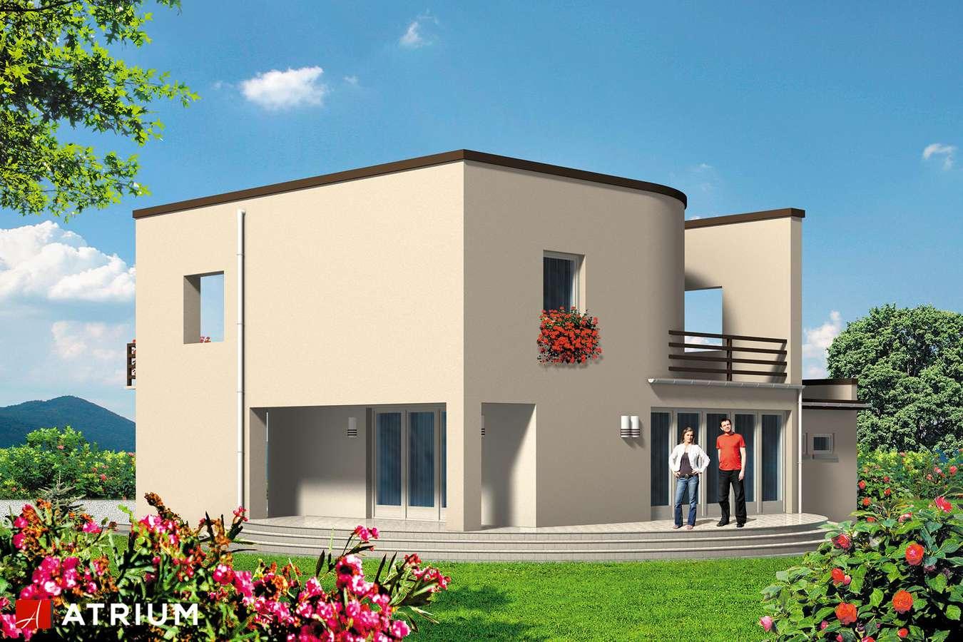 Projekty domów - Projekt domu piętrowego WILLA MODERNA - wizualizacja 2