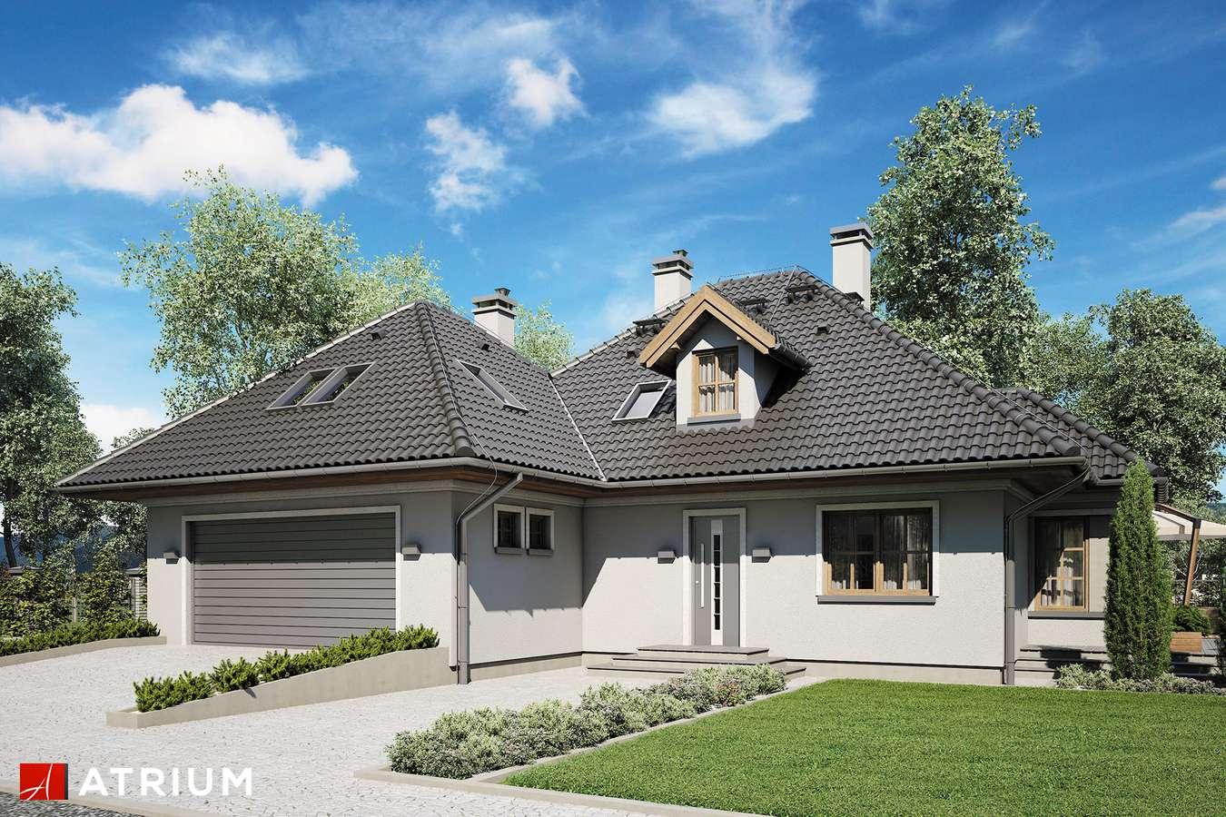 Projekty domów - Projekt domu z poddaszem GNIAZDO GILA - wizualizacja 1