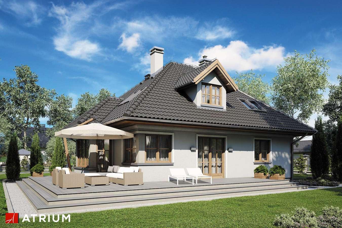 Projekty domów - Projekt domu z poddaszem GNIAZDO GILA - wizualizacja 2