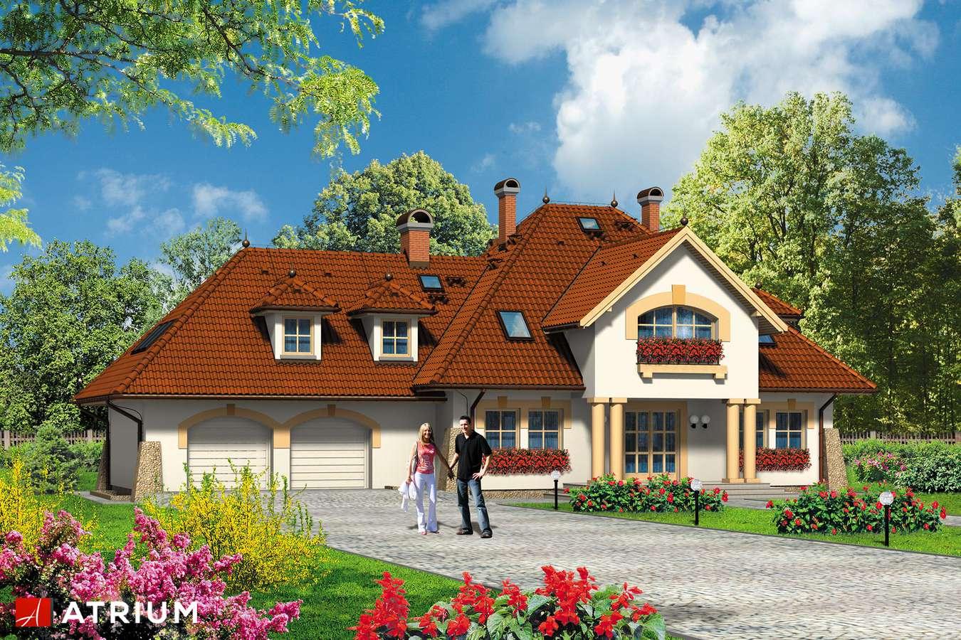 Projekty domów - Projekt domu z poddaszem KARMAZYN - wizualizacja 1