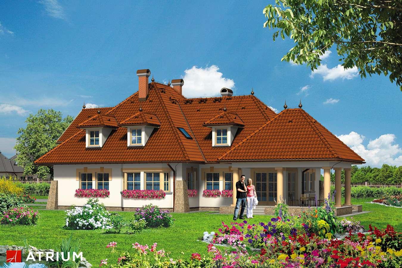 Projekty domów - Projekt domu z poddaszem KARMAZYN - wizualizacja 2