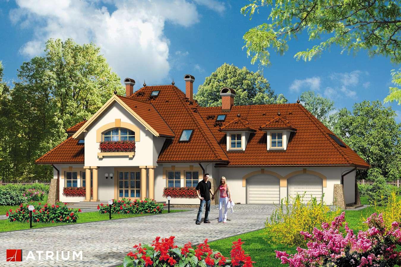 Projekty domów - Projekt domu z poddaszem KARMAZYN - wizualizacja 1 - wersja lustrzana