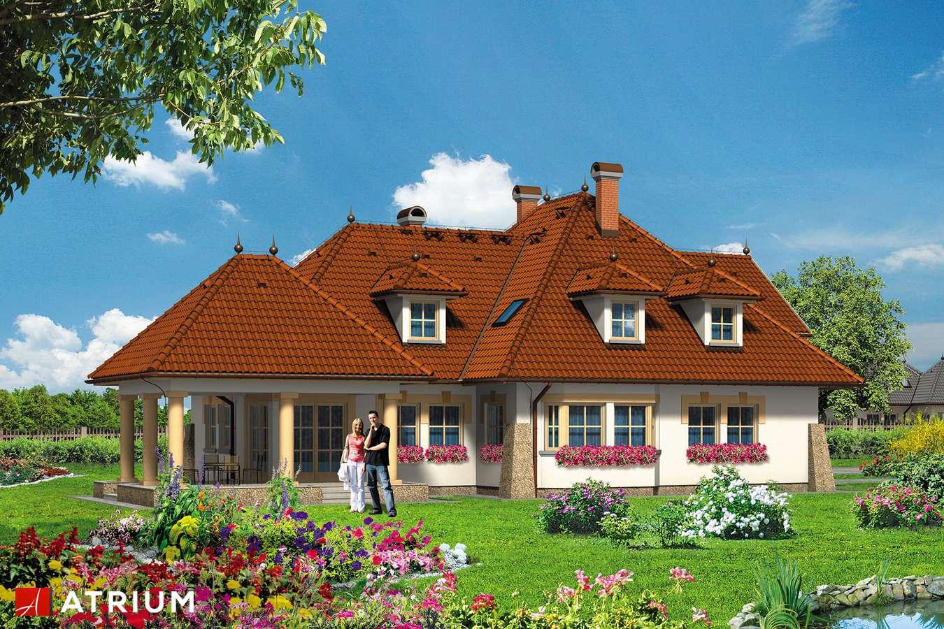 Projekty domów - Projekt domu z poddaszem KARMAZYN - wizualizacja 2 - wersja lustrzana