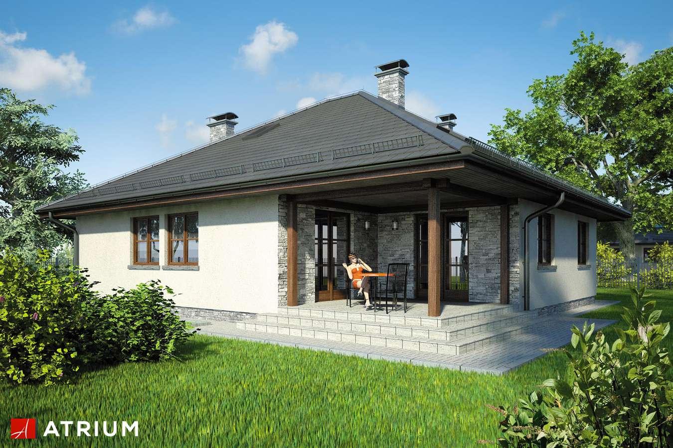 Projekty domów - Projekt domu z poddaszem FAKTOR PLUS - wizualizacja 2