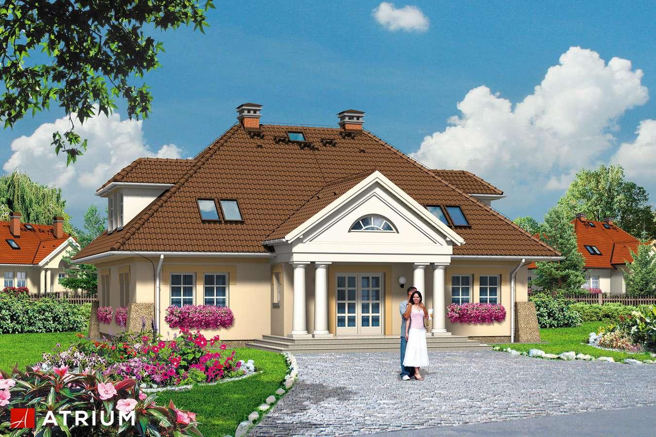 Projekty domów - Projekt domu z poddaszem KASZTELANKA - wizualizacja 1