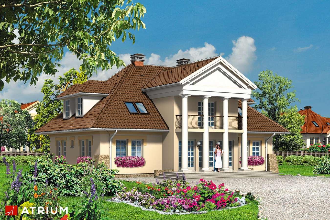 Projekty domów - Projekt domu z poddaszem KASZTELANKA - wizualizacja 2