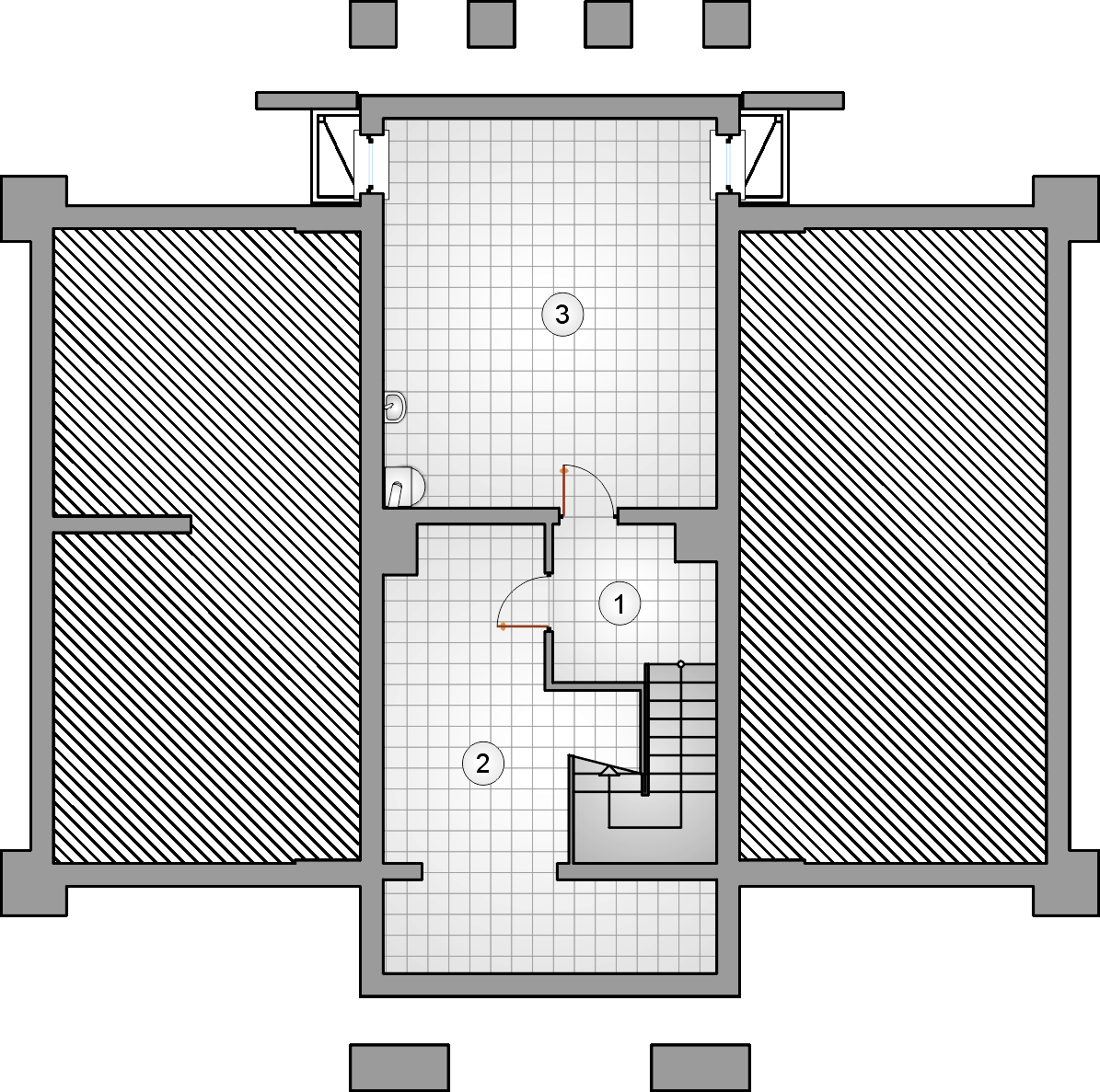 Rzut piwnicy - projekt Kasztelanka