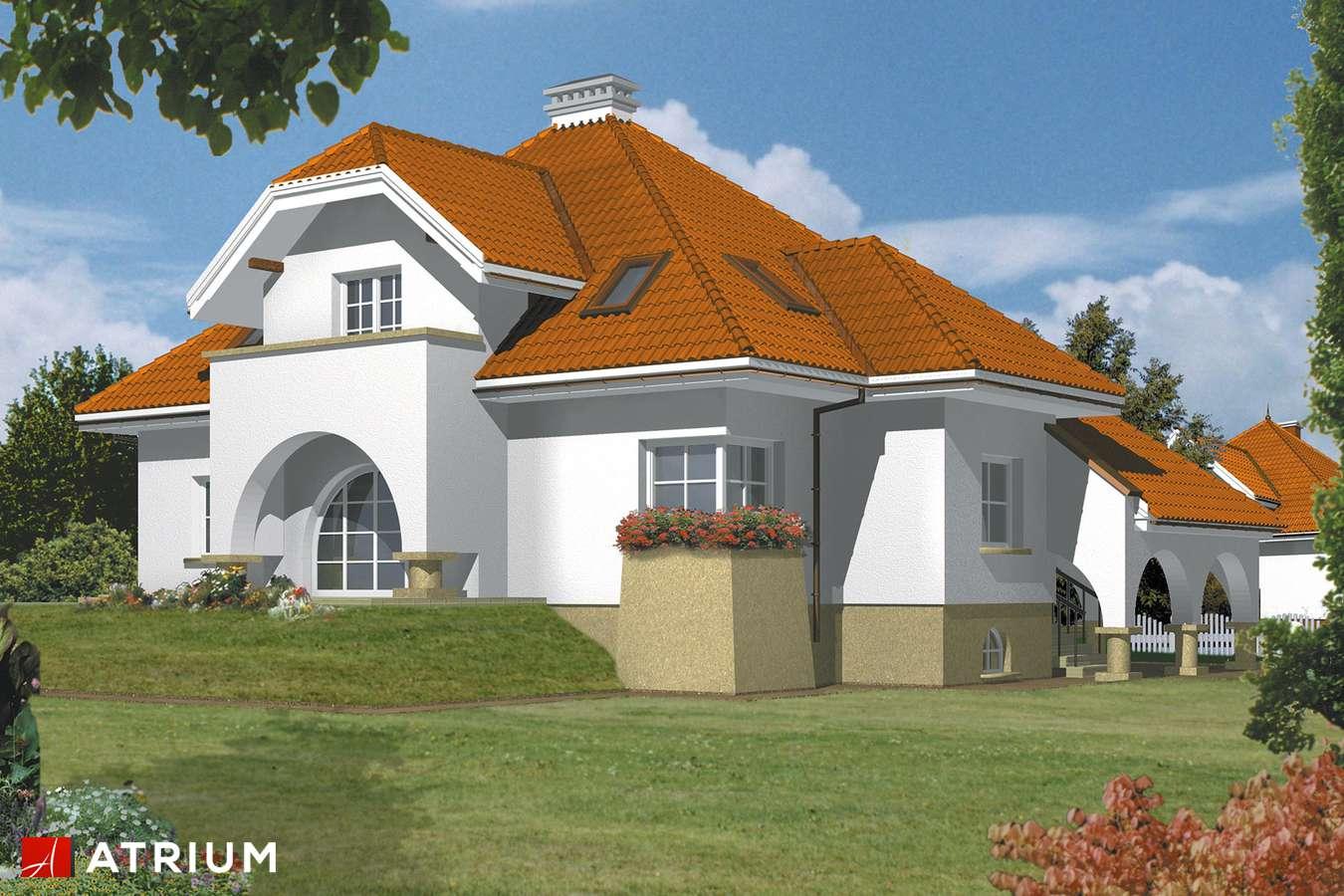 Projekty domów - Projekt domu z poddaszem SZMARAGD - wizualizacja 1