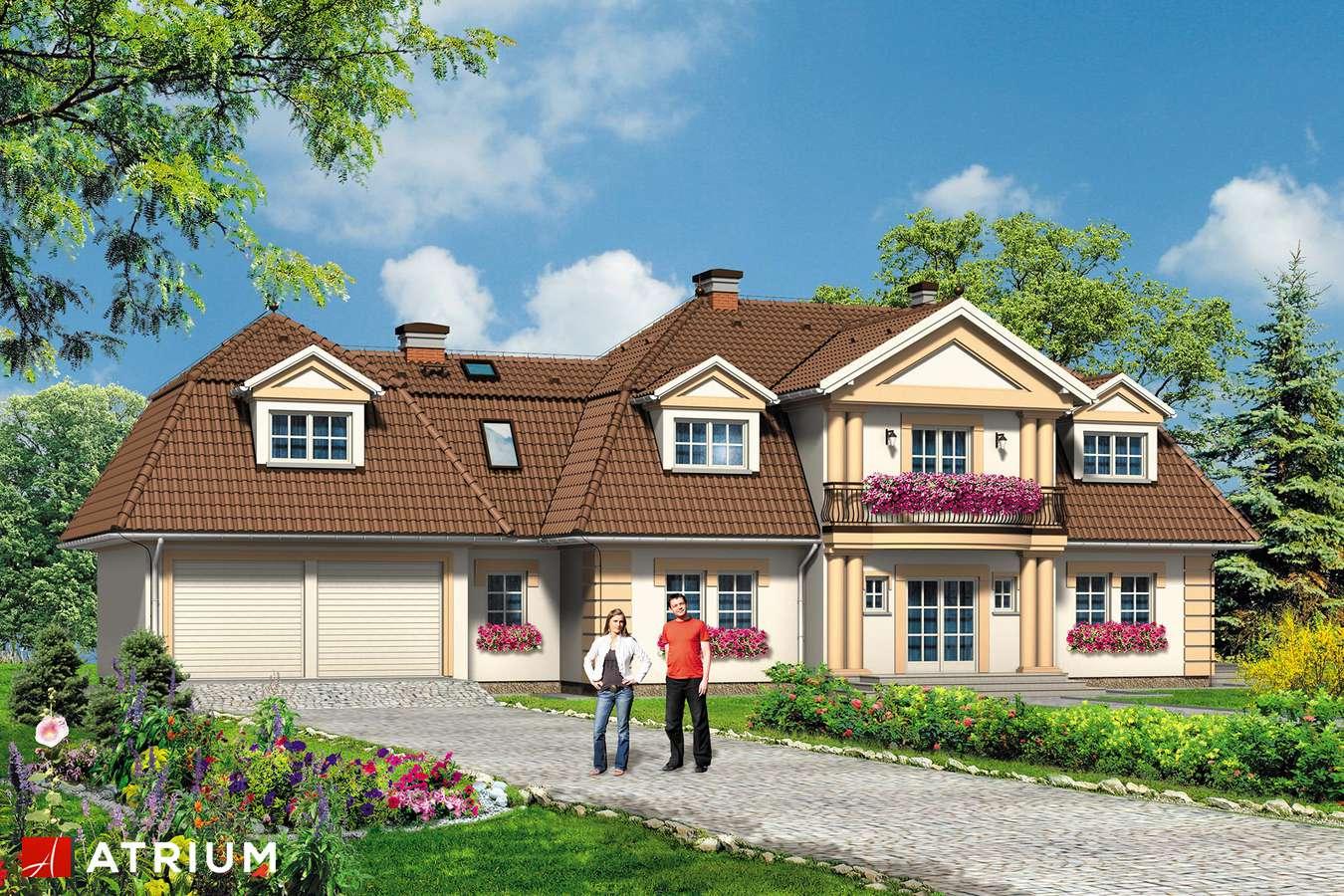 Projekty domów - Projekt domu z poddaszem WILLA MARZENIE - wizualizacja 1