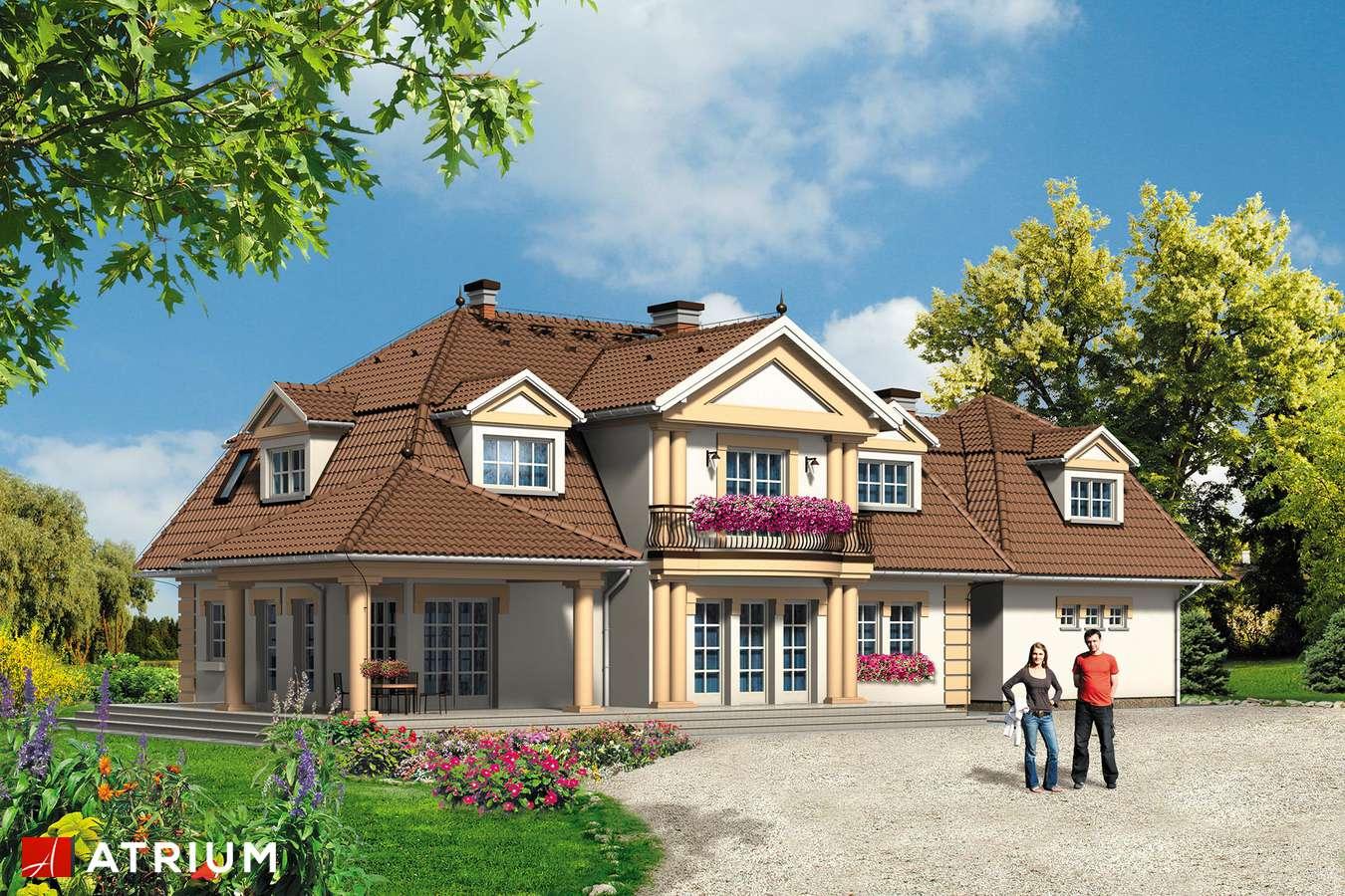 Projekty domów - Projekt domu z poddaszem WILLA MARZENIE - wizualizacja 2