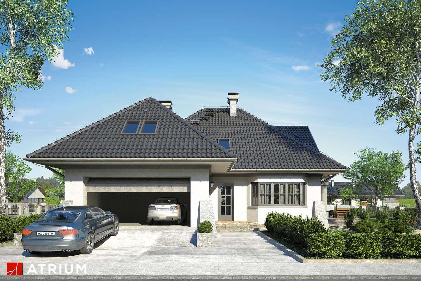Projekty domów - Projekt domu z poddaszem BIELIK - wizualizacja 1