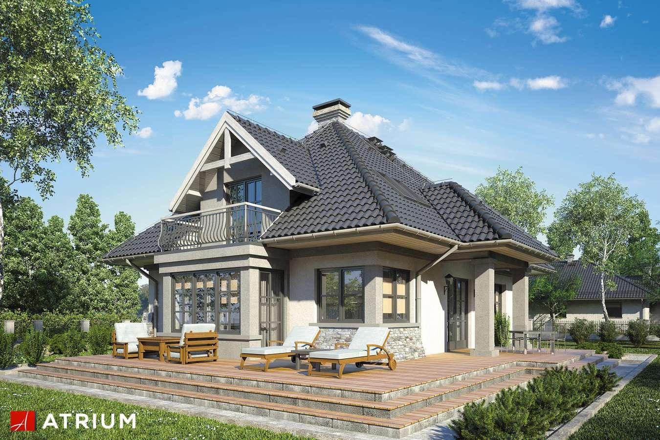 Projekty domów - Projekt domu z poddaszem BIELIK - wizualizacja 2