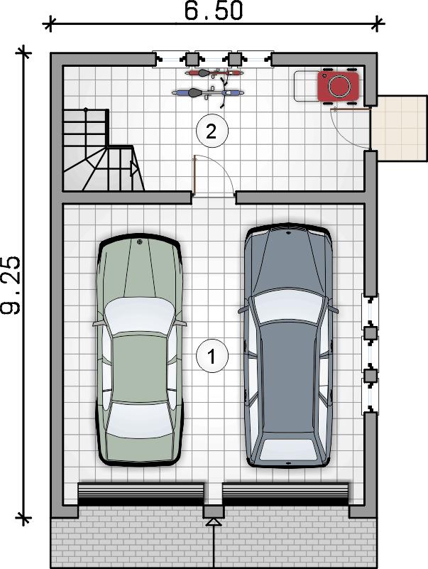 rzut parteru - Garaż Z 17