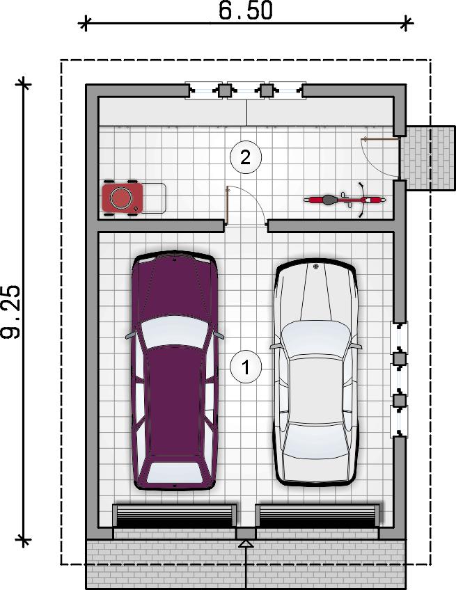 rzut parteru - Garaż Z 18