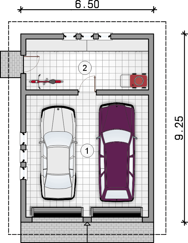 rzut parteru - Garaż Z 19