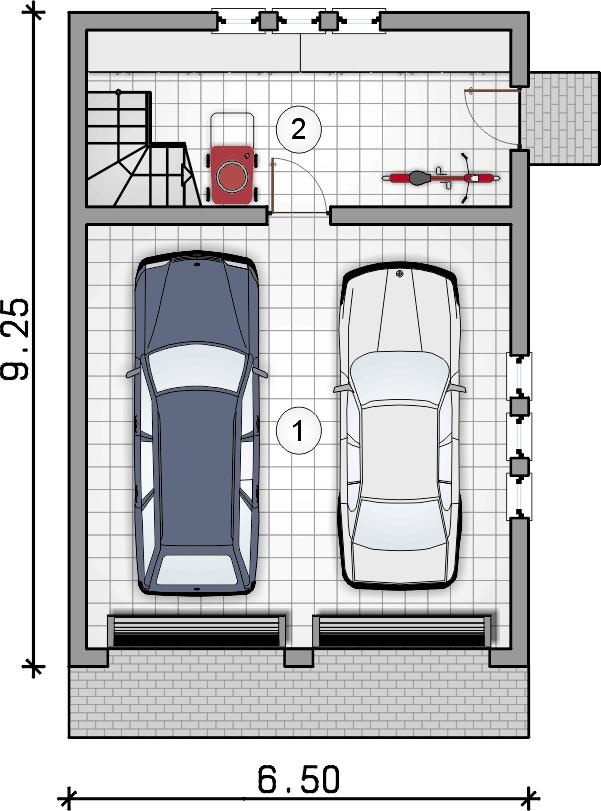 rzut parteru - Garaż Z 20